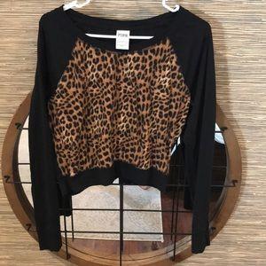 VS PINK leopard print top